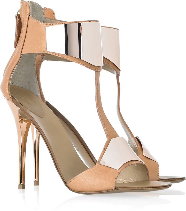 Giuseppe Zanotti Henry leather and metal T-bar sandals