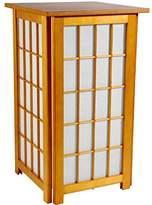 "Oriental Furniture 27"" Tall Hokkaido End Table Shoji Lamp - Honey"