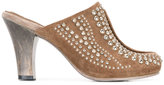 Calleen Cordero studded mid-heel mules - women - Leather/Suede/Metal (Other)/rubber - 7