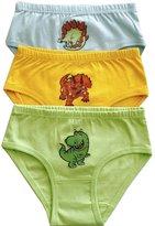 Dinosaurs Organic Cotton Girl's Underwear - 6-Pack by Svaha