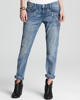 Current/Elliott Jeans - The Roller in Super Loved with Embroidery