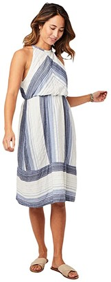 Carve Designs Mabel Dress (Navy Sunrise Stripe) Women's Dress