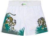 Kenzo Jungle Tiger Swim Trunks (Baby) - White - 18 Months