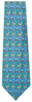 Vintage Blue Boat Silk Tie