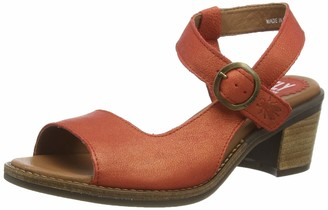 Fly London Women's ZORA583FLY Ankle Strap Heel Sandals (Devil Red 004) 4 (37 EU)