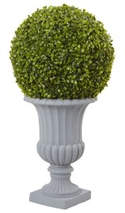 Nearly Natural 2.5' Boxwood Topiary w/ Urn