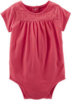 Osh Kosh Oshkosh Short-Sleeve Lace Bodysuit - Baby Girls 3m-24m