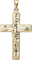 JCPenney FINE JEWELRY 14K Yellow Gold Reversible Cross Charm
