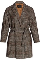 Thumbnail for your product : Marina Rinaldi, Plus Size Treno Plaid Short Coat