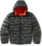 Class Club Little Boys 2T-7 Camo Print Palpable Down Puffer Jacket