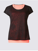 M&S Collection Burnout Double Layer Sports Top