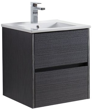 "Blossom 20"" Wall Mounted Single Bathroom Vanity Base Only Base Finish: Silver Gray"