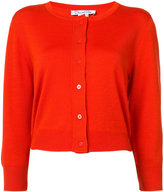 Oscar de la Renta cropped sleeve cardigan - women - Silk/Virgin Wool - M