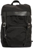 Saint Laurent Moon Nylon & Leather Backpack