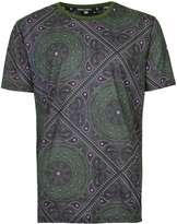 Criminal Damage Khaki Paisley Print T-shirt*