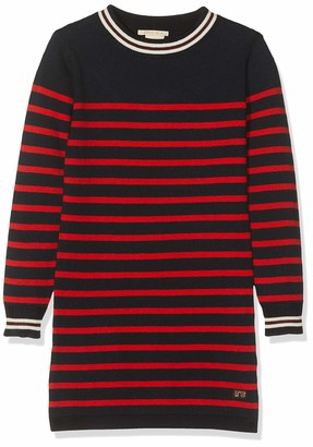Scotch & Soda Girl's Knitted Dress in Yarn Dyed Stripe