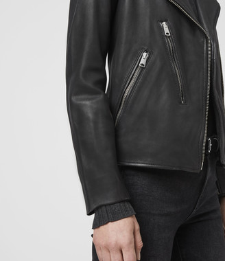 AllSaints Elva Leather Biker Jacket