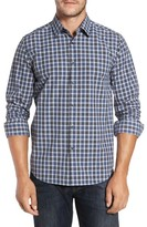 Robert Barakett Men's Axel Regular Fit Check Sport Shirt