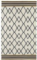 Tribeca Flatweave Ziggy Black Wool Rug (3'6 x 5'6)