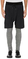 Nlst Men's Double-Layer Cotton Shorts-Black Size L