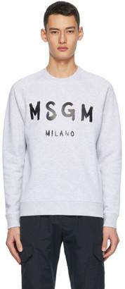 MSGM Grey Artist Logo Sweatshirt