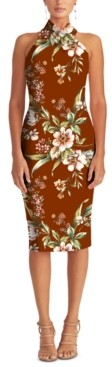 Rachel Roy Harland Printed Halter Dress
