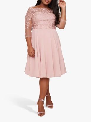 Chi Chi London Curve Melinda Dress, Pink