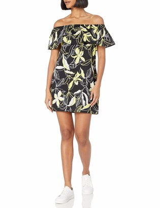 Splendid Women's Tropical Floral Dress Off Shoulder