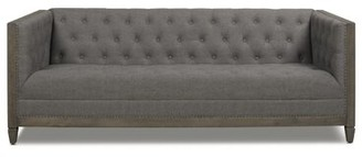 "Gracie Oaks Goldstein 81"" Tuxedo Arm Sofa Upholstery Color: Heathered Gray"