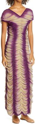 Isa Boulder Ruched Silk Georgette Gown