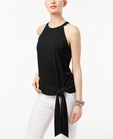 INC International Concepts Tie-Front Halter Top, Created for Macy's