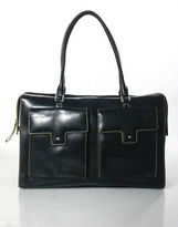 Rafe New York Black Leather Satchel Handbag Size Large