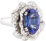 Ring Platinum Tanzanite & Diamond