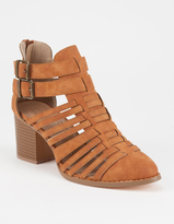 YOKI Strappy Double Buckle Womens Booties