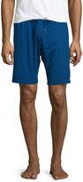 Derek Rose Jersey Drawstring Lounge Shorts, Blue