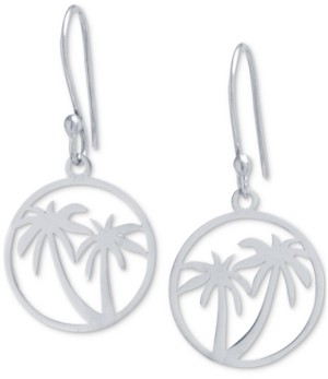 Giani Bernini Palm Tree Drop Earrings in Sterling Silver, Created for Macy's