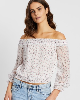 Abercrombie & Fitch LS Off-Shoulder Blouse