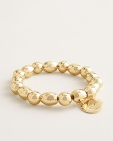 Chico's Chicos Shine Gold-Tone Medallion Stretch Bracelet