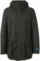 Woolrich hooded coat - men - Silk/Feather Down/Polyamide/Virgin Wool - S