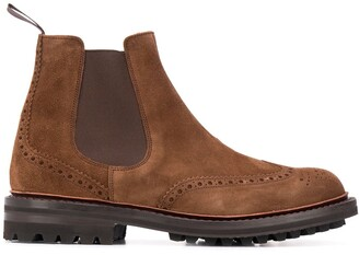 Church's perforated Chelsea boots