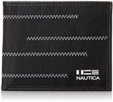 Nautica Men's Fabric Passcase with Zig Zag Stitch Accent