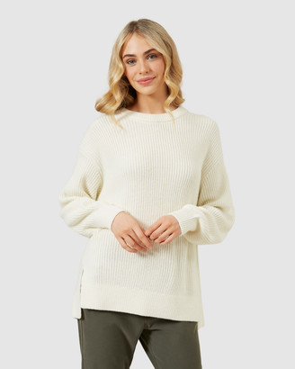French Connection Crew Neck Side Split Knit