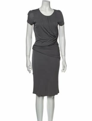 Gucci Scoop Neck Midi Length Dress Grey