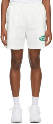Sporty and Rich White Land Rover Edition Logo Shorts
