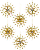 Kurt Adler Snowflake Ornament 6Pc Set