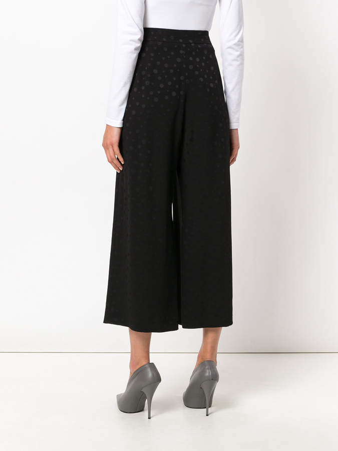Max Mara polka dot cropped wide leg trousers