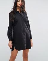 Asos Design DESIGN cotton mini shirt dress