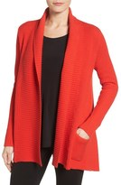 Chaus Two-Pocket Cotton Blend Cardigan