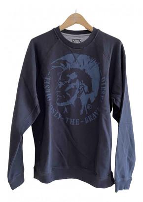 Diesel Blue Cotton Knitwear & Sweatshirts