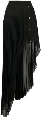 Patrizia Pepe Asymmetric Pleated Skirt